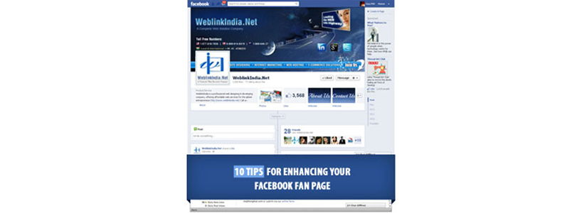 10 Tips for Enhancing your Facebook Fan Page