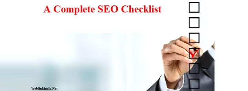 A Complete SEO Checklist