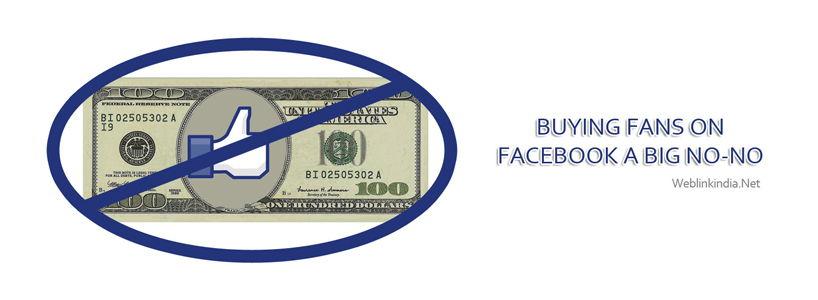Buying Fans On Facebook: A Big No-No