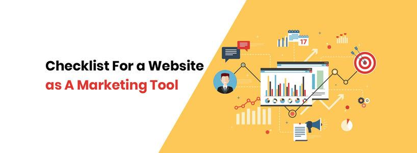 Checklist For a Website as A Marketing Tool