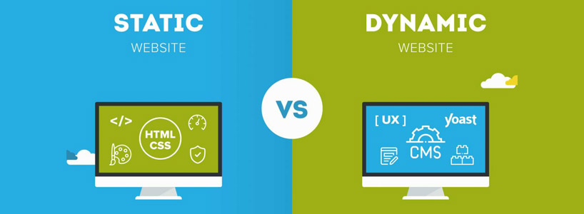 What is the difference between a dynamic and a static web site ?