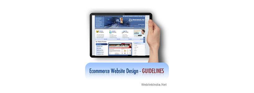 Ecommerce Website Design - Guidelines