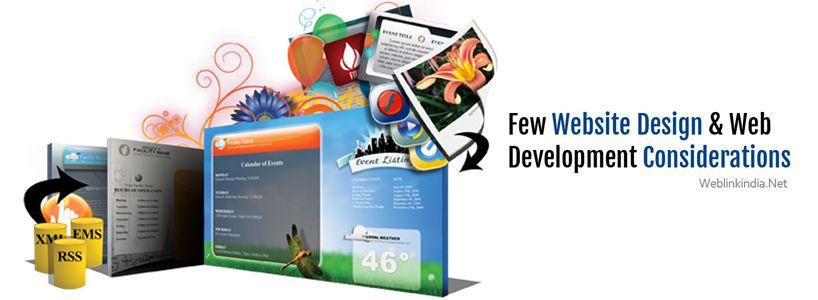 Few Website Design & Web Development Considerations