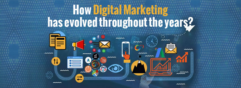 How digital marketing has evolved throughout the years?