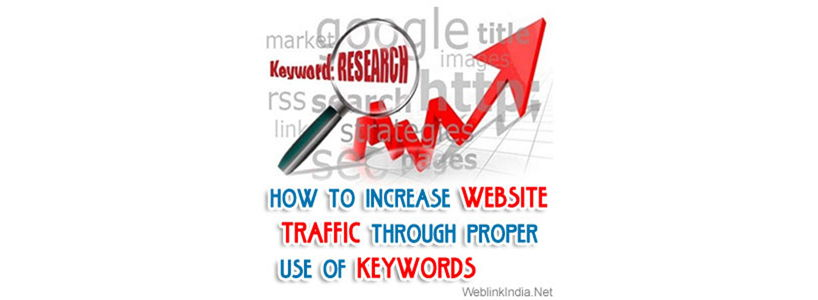 How To Increase Website Traffic Through Proper Use Of Keywords