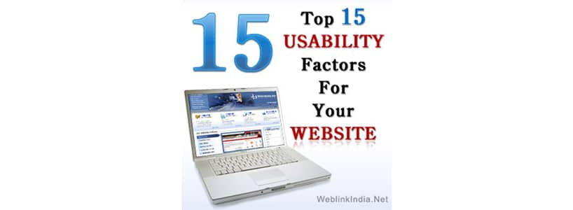Top 15 Usability Factors For Your Website
