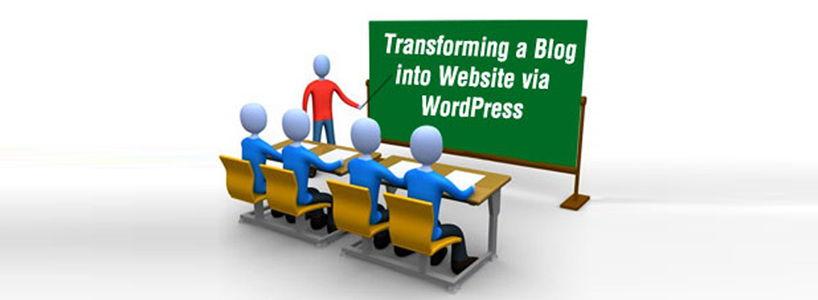 Transforming a Blog into Website via WordPress