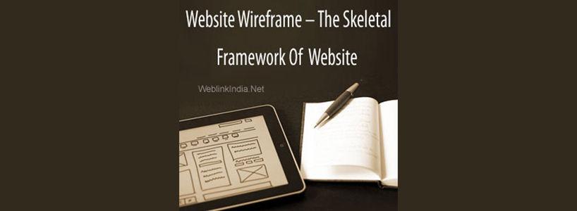 Website Wire-frame  The Skeletal Framework Of Website